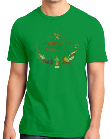 Herbology Society Harry Potter Inspired Fan Tee Standard Green Stock Model Front 1 Thumb Front