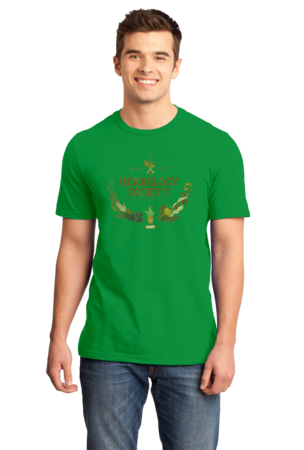 Herbology Society Harry Potter Inspired Fan Tee Standard Green Stock Model Front 1 Front