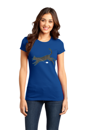 Cat And Mouse Girly Royal Blue Stock Model Front 1 Front