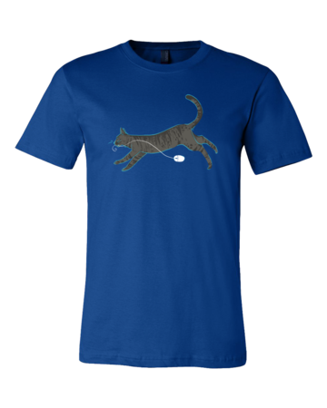 Cat And Mouse Standard Royal Blue Blank with Depth Front