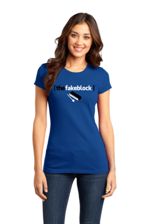 The Fakeblock Arrested Development Fan T-shirt Girly Royal Stock Model Front 1 Front