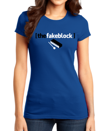 The Fakeblock Arrested Development Fan T-shirt Girly Royal Stock Model Front 1 Thumb Front