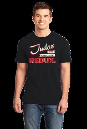 Judas Redux Logo Standard Black Stock Model Front 1 Front