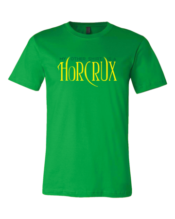 My Other Shirt is a Horcrux Standard Green Blank with Depth Front