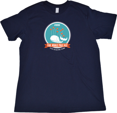 Fail Whale Pale Ale Standard Navy Blank Flat Front