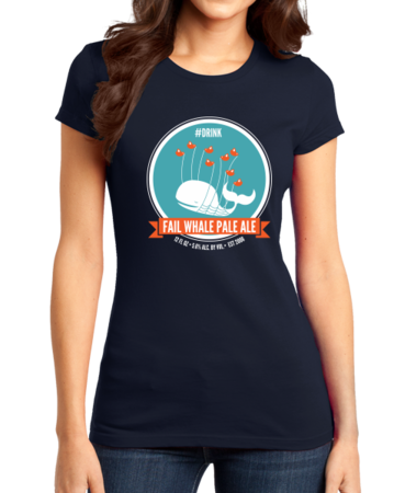 Fail Whale Pale Ale Girly Navy Stock Model Front 1 Thumb Front