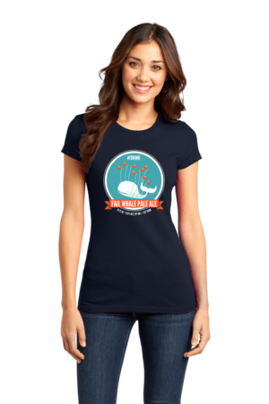 Fail Whale Pale Ale Girly Navy Stock Model Front 1 Front