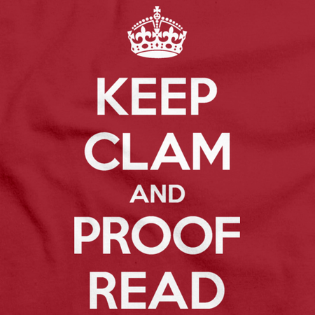 Keep Clam and Proof Read Red thumbnail