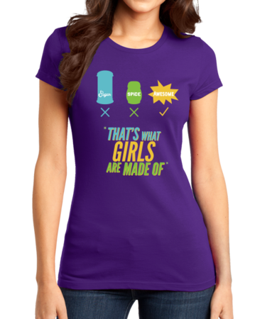 Sugar, Spice and Everything Nice! Girly T-Shirt Girly Purple Stock Model Front 1 Thumb Front