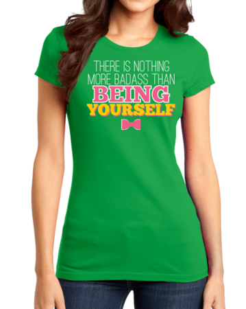 Darren Criss Being Yourself Girly Green Stock Model Front 1 Thumb Front