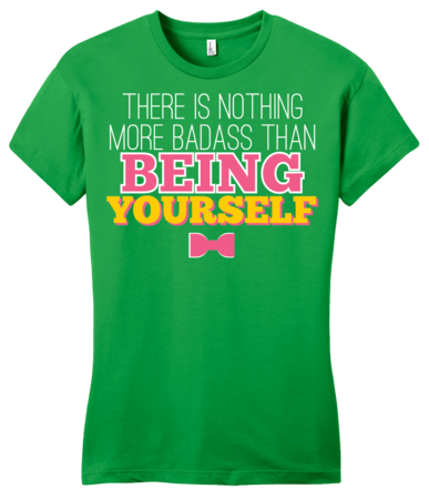 Darren Criss Being Yourself Girly Green Blank with Depth Front
