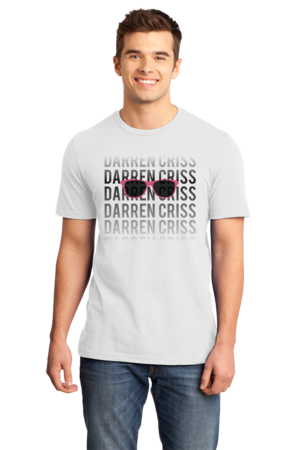 Darren Criss Fading Name Standard White Stock Model Front 1 Front