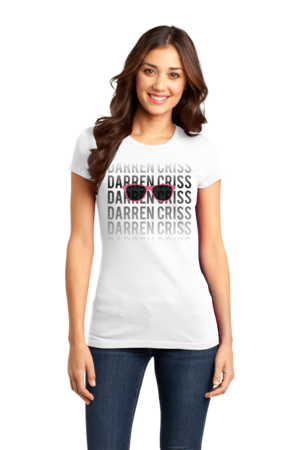 Darren Criss Fading Name Girly White Stock Model Front 1 Front