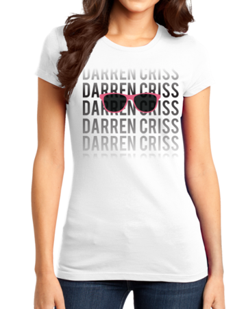 Darren Criss Fading Name Girly White Stock Model Front 1 Thumb Front
