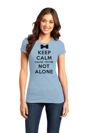 Darren Criss Keep Calm 'Cause You Are Not Alone Girly Light blue Stock Model Front 1 Front