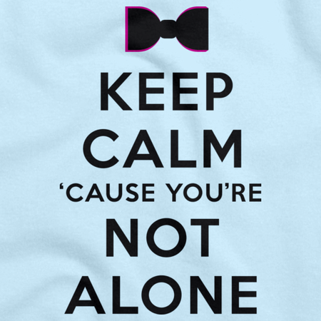 Darren Criss Keep Calm 'Cause You Are Not Alone Light blue thumbnail