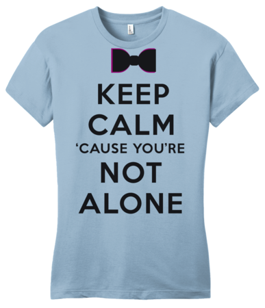 Darren Criss Keep Calm 'Cause You Are Not Alone Girly Light blue Blank with Depth Front