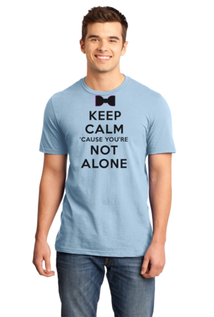 Darren Criss Keep Calm 'Cause You Are Not Alone Standard Light blue Stock Model Front 1 Front