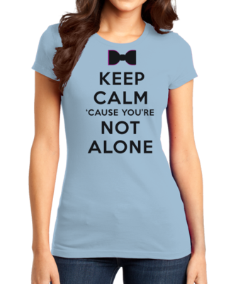 Darren Criss Keep Calm 'Cause You Are Not Alone Girly Light blue Stock Model Front 1 Thumb Front