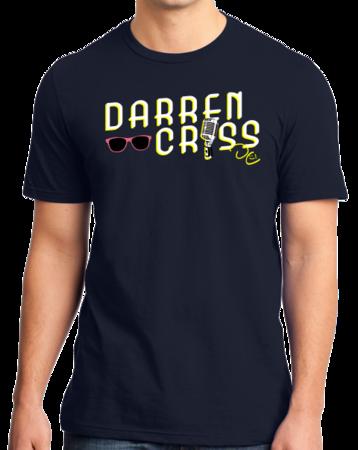 Darren Criss Microphone T-shirt Standard Navy Stock Model Front 1 Thumb Front
