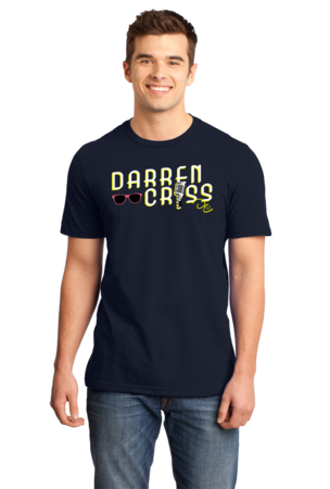 Darren Criss Microphone T-shirt Standard Navy Stock Model Front 1 Front