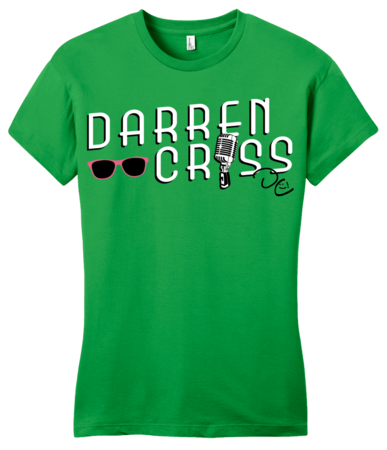 Darren Criss Microphone Girly Green Blank with Depth Front