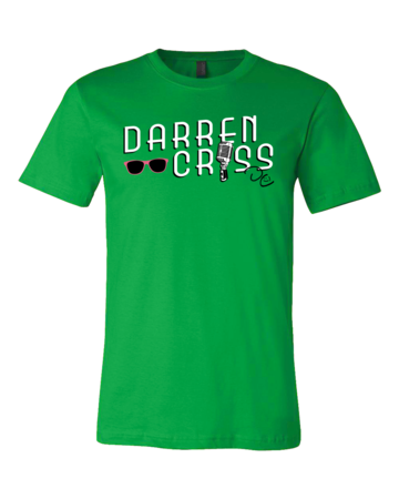 Darren Criss Microphone Standard Green Blank with Depth Front