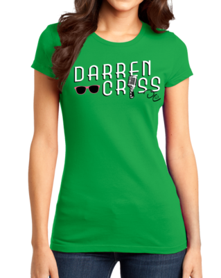 Darren Criss Microphone Green T-shirt