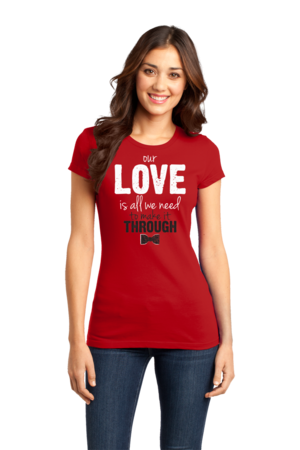 Darren Criss Our Love Is All We Need Girly Red Stock Model Front 1 Front