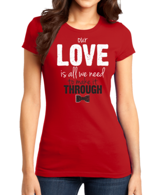 Darren Criss Our Love Is All We Need Girly Red Stock Model Front 1 Thumb Front