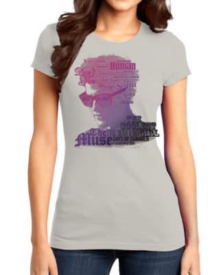Darren Criss Song Name Headshot Girly Light Grey Stock Model Front 1 Thumb Front