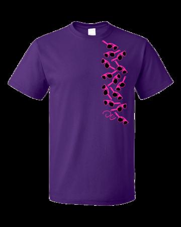 Darren Criss Sunglasses  Standard Purple Blank with Depth
