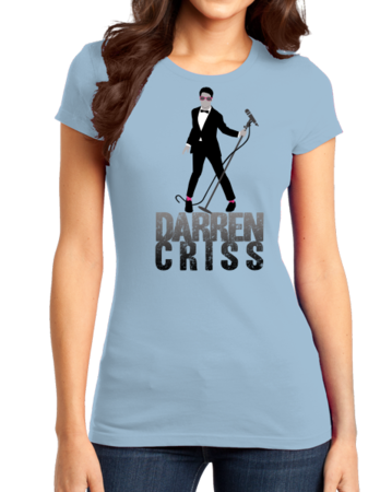 Darren Criss Tuxedo Pose Girly Light blue Stock Model Front 1 Thumb Front