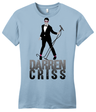 Darren Criss Tuxedo Pose Girly Light blue Blank with Depth Front