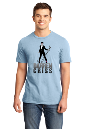 Darren Criss Tuxedo Pose Standard Light blue Stock Model Front 1 Front
