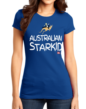 StarKid AUSTRALIAN STARKID  Girly Royal Blue Stock Model Front 1 Thumb Front