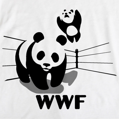World Wildlife Wrestling Fund - WWF Funny Cute Pandas Panda Love T-shirt