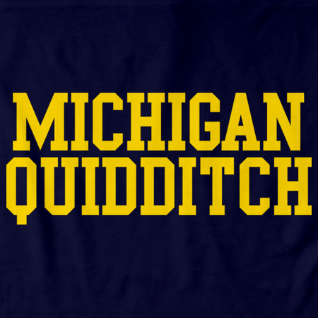 Michigan Quidditch Wordmark Navy Art Preview