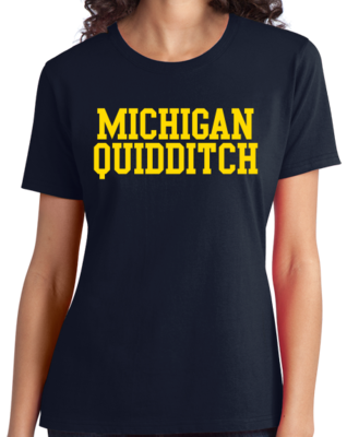 Michigan Quidditch Wordmark T-shirt