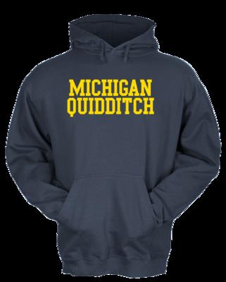Michigan Quidditch Wordmark Pullover Hoodie