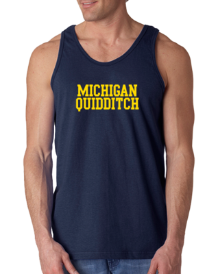Michigan Quidditch Wordmark Tank Top