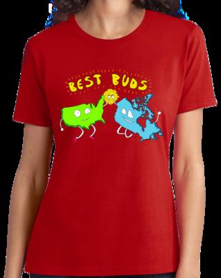 Usa & Canada = Best Buds! T-shirt