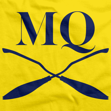 Michigan Quidditch Brooms Logo Tee Yellow Art Preview