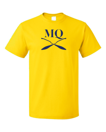 Michigan Quidditch Brooms Logo Tee Unisex Yellow Blank with Depth