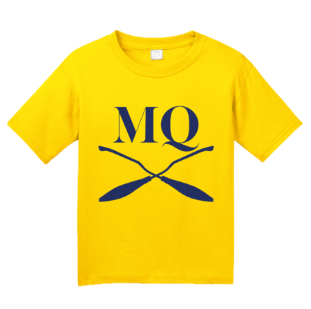Michigan Quidditch Brooms Logo Tee Youth Yellow Blank with Depth