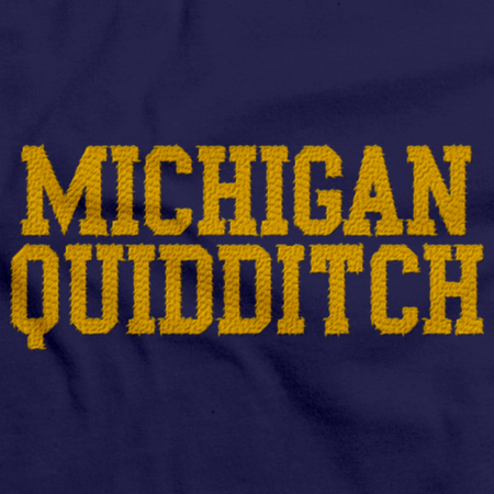 Michigan Quidditch Polo Navy Art Preview