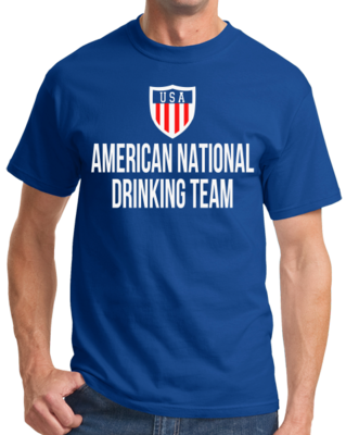 AMERICAN NATIONAL DRINKING TEAM T-shirt