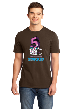 StarKid 5-Year Anniversary Cupcake T-shirt Standard Brown Stock Model Front 1