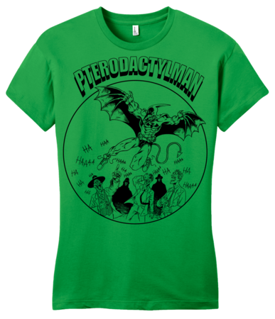 StarKid Holy Musical, B@man! Pterodactyl Man Girly Green Blank with Depth