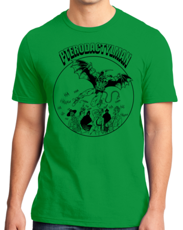 StarKid Holy Musical, B@man! Pterodactyl Man Standard Green Stock Model Front 1 Thumb